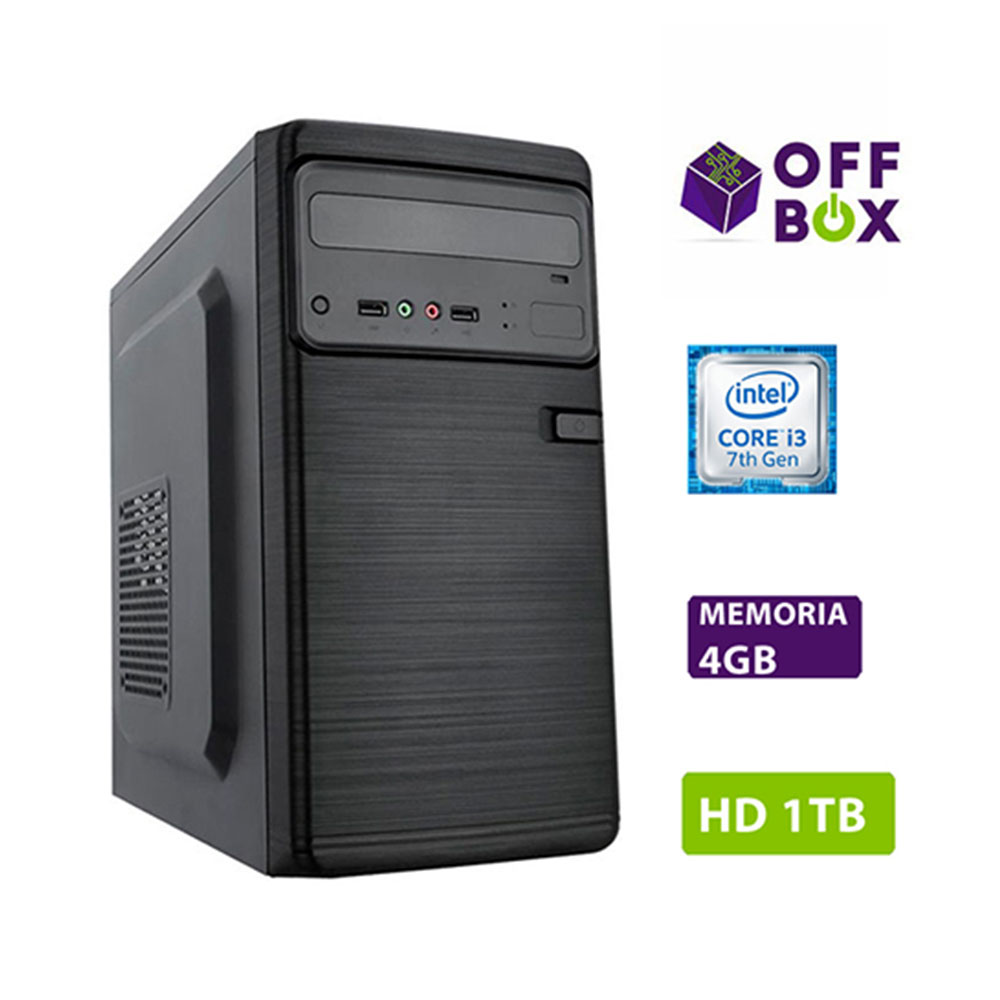 Computador Offbox Home 4000 Intel I3 7100 3,9Ghz, Asush110-Cs, Br, 4Gb, 1Tb