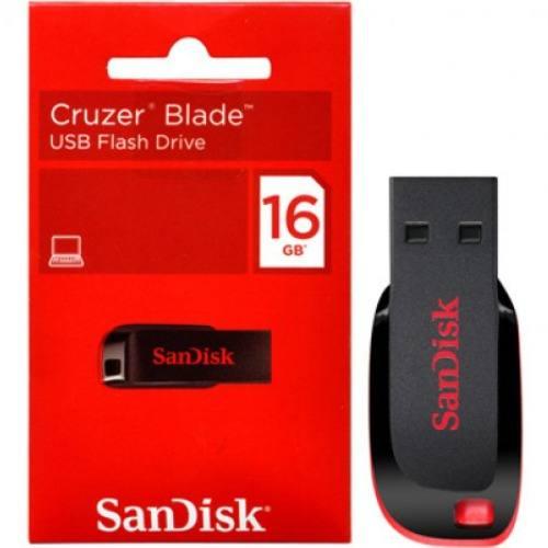 Pen Drive 16Gb Sandisk Cruzer Blade Box