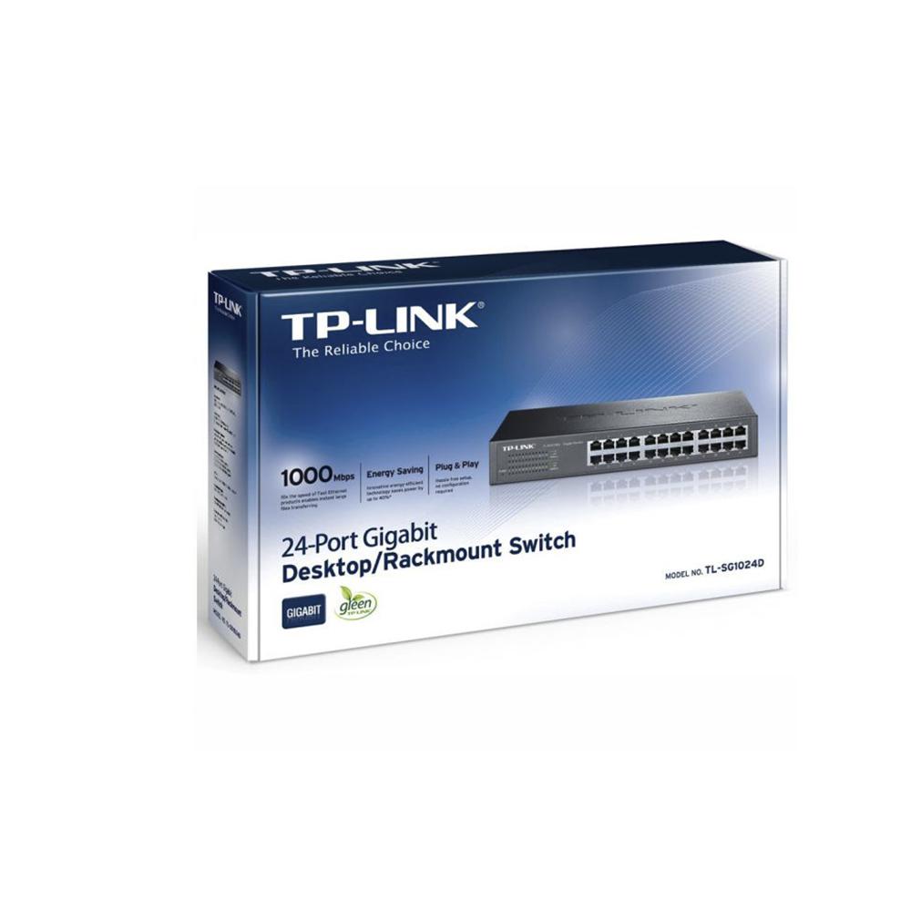 Switch 24 Portas 10,100,1000 Tp Link Tl-Sg1024D