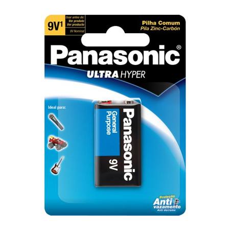 Bateria  Panasonic Comum 9V