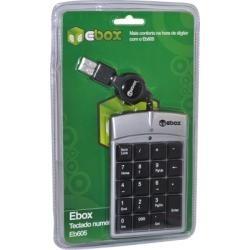Teclado Numerico Usb Ebox-Eb605- Preto E Prata