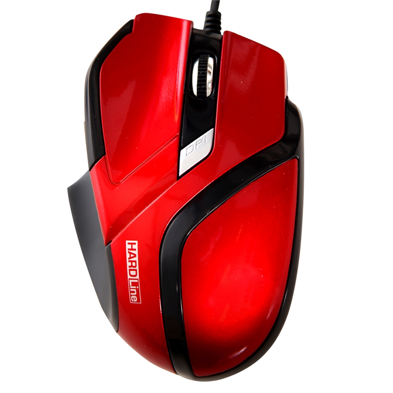 Mouse Optico Usb Hardline Ms26-2400Dbi-Verm, Preto
