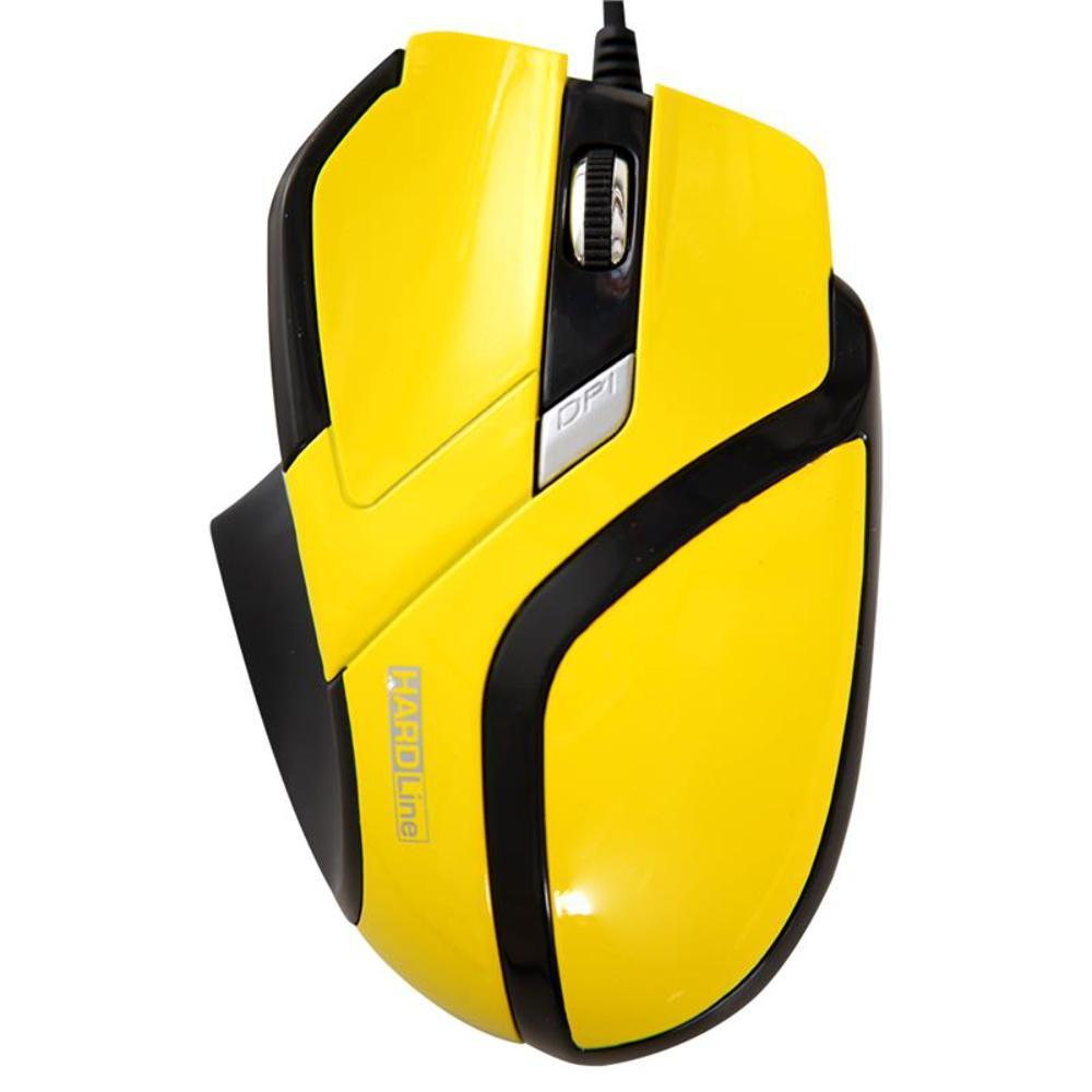 Mouse Optico Usb Hardline Ms26-2400Dbi-Amarelo, Pre