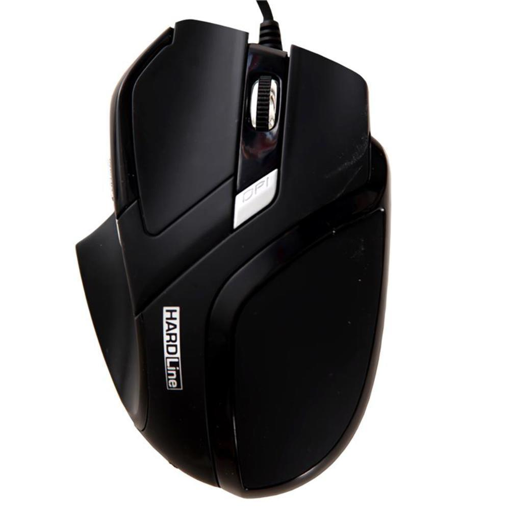 Mouse Optico Usb Hardline Ms26-2400Dbi-Preto