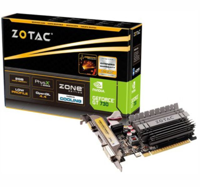 Vga Pci-E 2Gb  Zotac-Geforce Gt730 64 Bits Ddr3