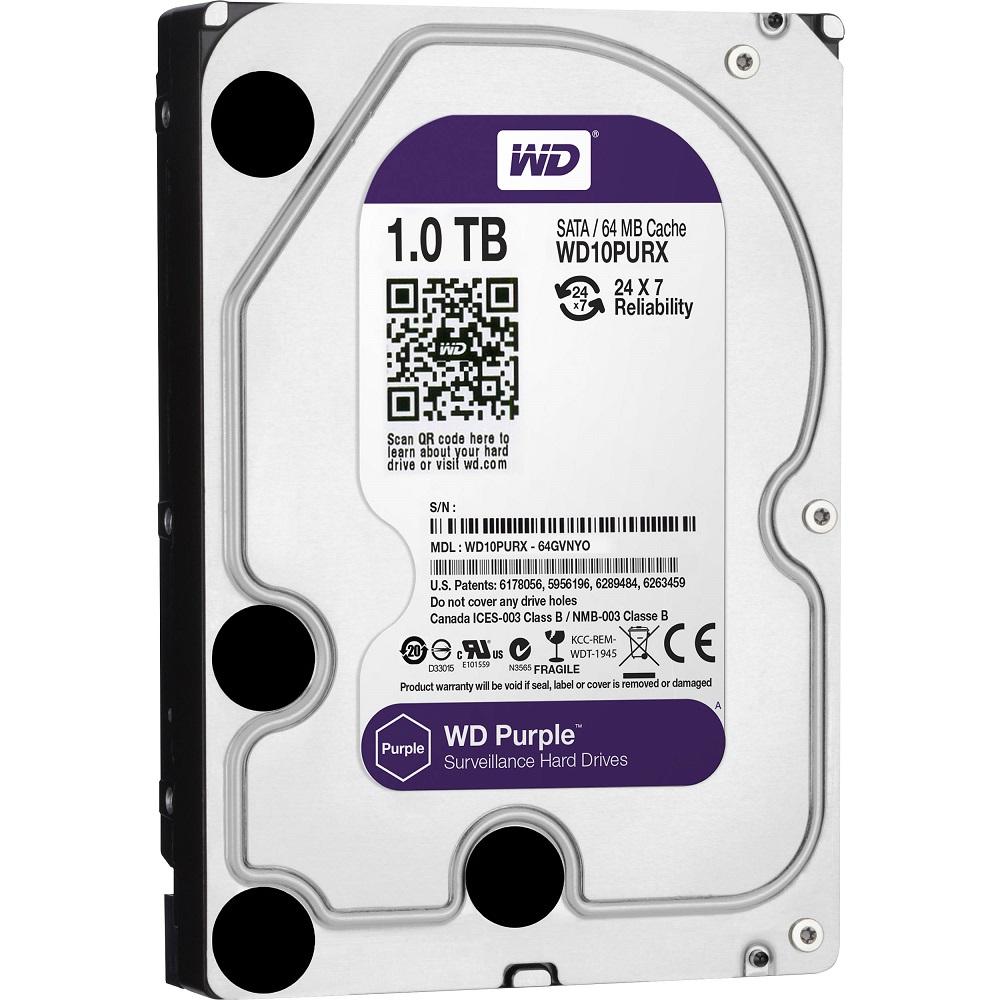 Hd 1Tb Sata 3 W. Digital Wd10Purx Purple