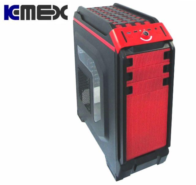 Gabinete K-Mex Cg-03T6 Vermelho, Preto Sem Fonte