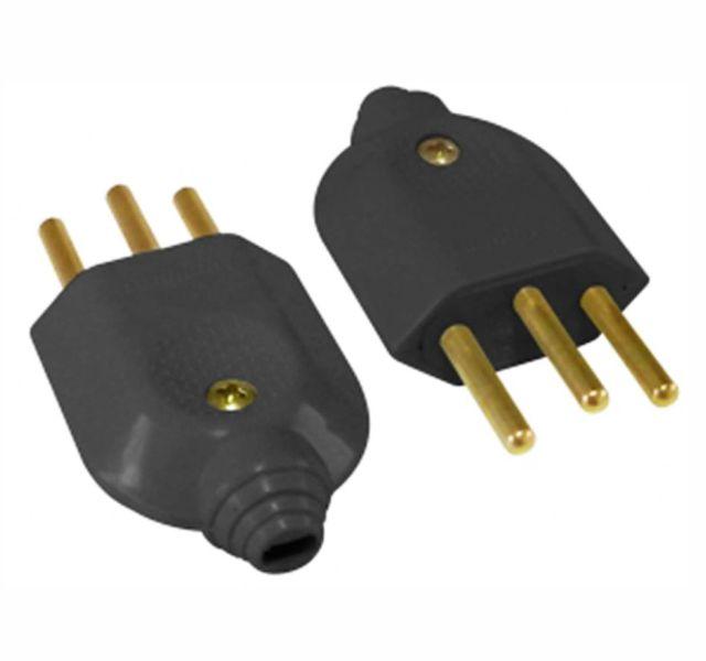 Plug Macho Pr 10A-250V 2P