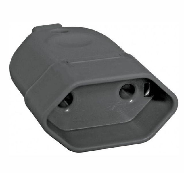 Plug Femea Pr 10A-250V 2P+ T Resid.