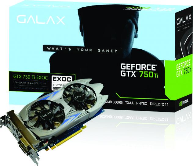 Vga Pci-E 2Gb Galax Geforce Gtx750-Ti 128Bit Gddr5