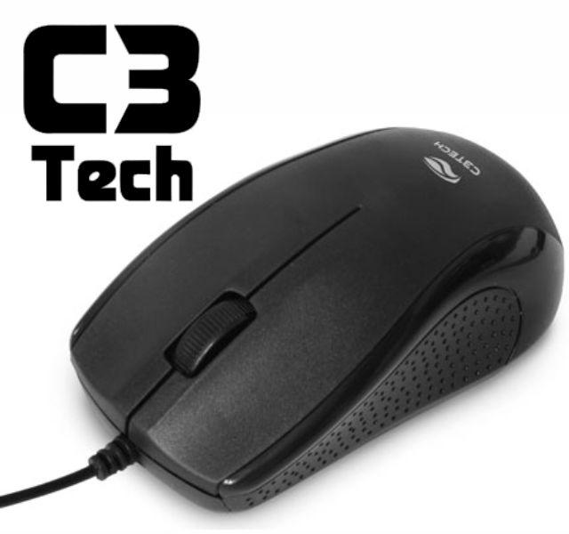 Mouse Óptico Usb-Ms25-Bk C3Tech Preto