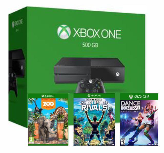 Console Xbox One 500Gb Preto Com Kinect+3 Jogos