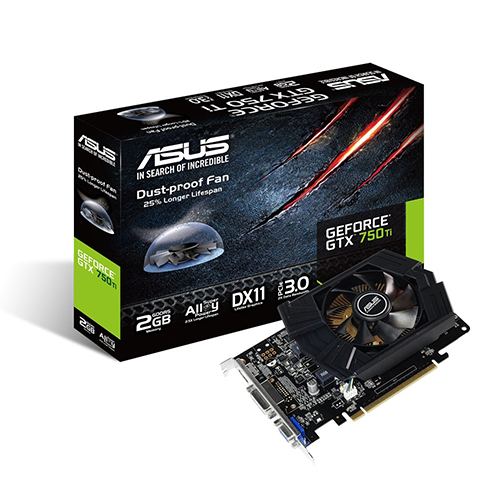 Vga Pci-E 2Gb Asus Geforce Gtx750-Ti- 128Bit Gddr5