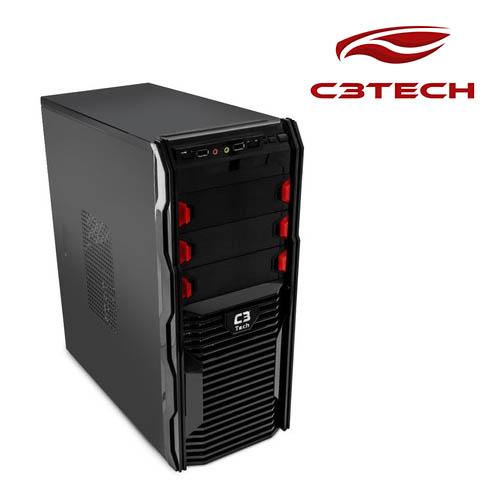 Gabinete C3Tech Game-Mt-G60-Bk  Preto Sem Fonte
