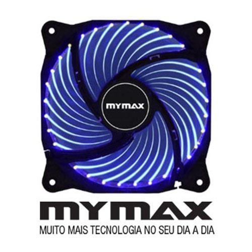 Cooler Mymax Fan Storm 2 Led Azul Cor Preta - Myc Fc-12025-33-Bl