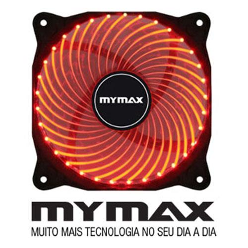 Cooler P, Gabinete 12X12  Vermelho 33 Leds- Mymax