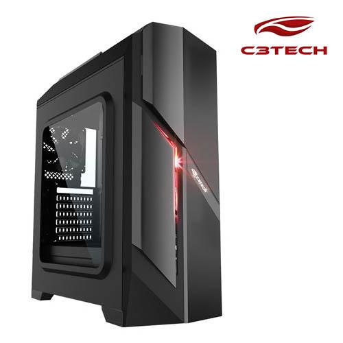 Gabinete C3Tech Game-Mt-G700Bk  Preto Sem Fonte