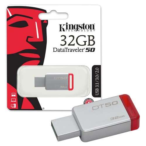 Pen Drive 32 Gb Kingston-Dt50- Usb 3.1  3.0  2.0