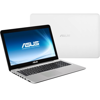 Notebook Asus Intel Celeron Quad-Core N3160 4Gb 500Gb 15,6 Pol Branco - Z550Sa-Xx002