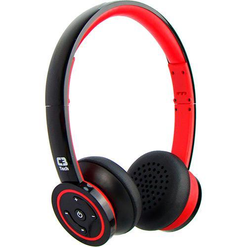 Fone De Ouvido S, Fio-Bluetooth H-W955B C3Tech-Red