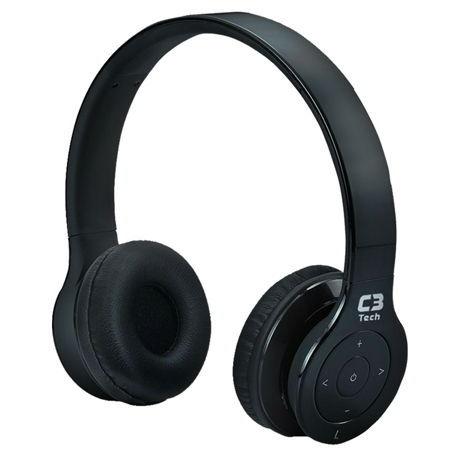 Fone De Ouvido H-W5300B C3Tech Sem Fio C,  Bluetooth - Preto