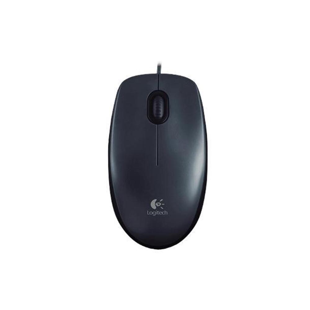 Mouse Óptico Logitech  Usb M100- Preto