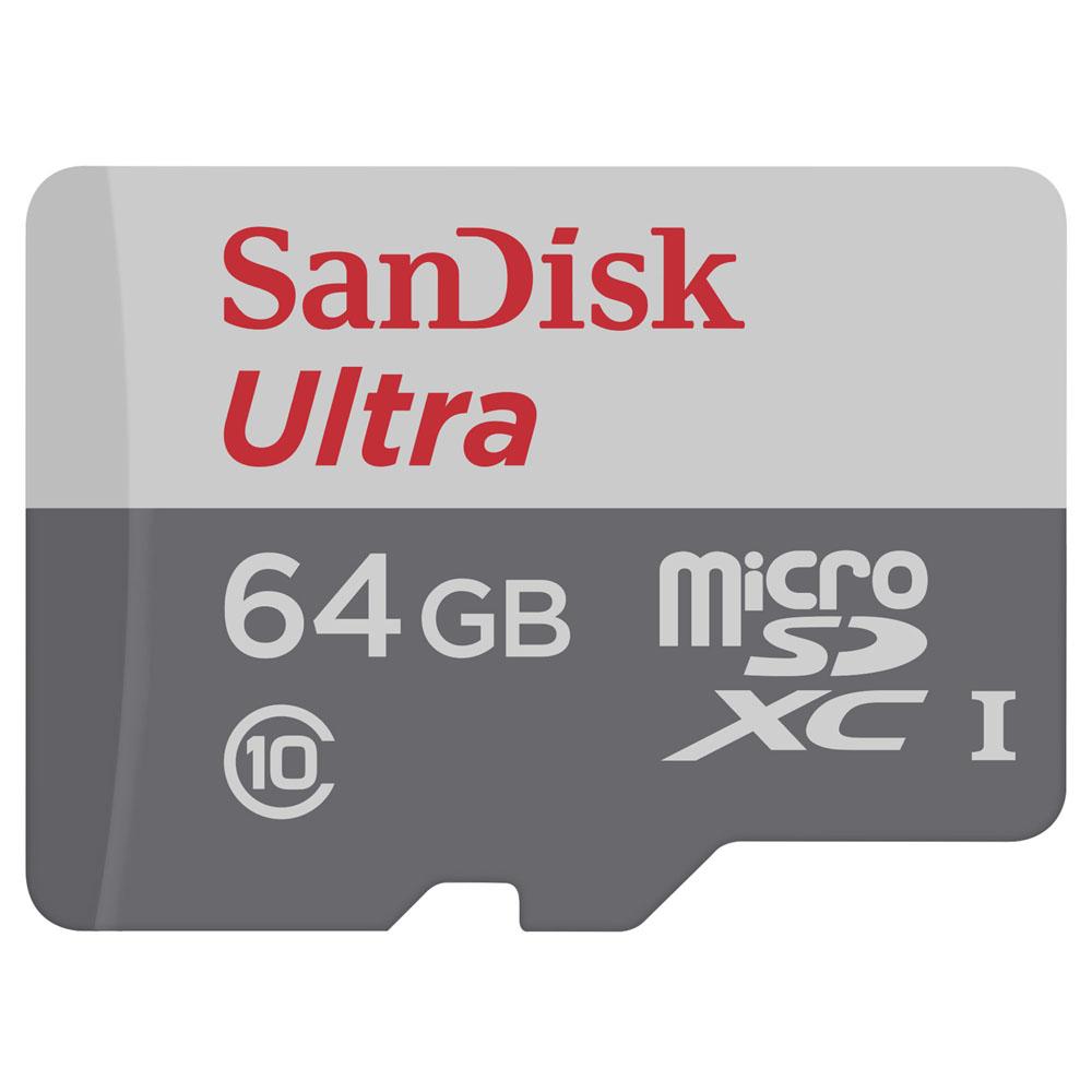 Cartão De Memória Sandisk Ultra Micro 64Gb Com Adaptador