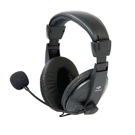 Headset C3 Tech Voicer Confort C,  Microfone Preto - Ct662863