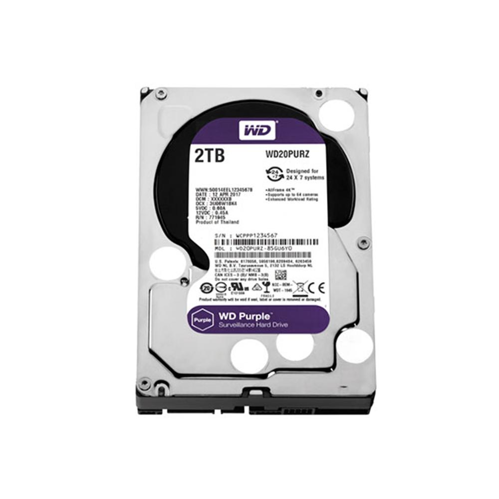 Hd 2Tb Sata 3 W. Digital Wd20Purz Purple