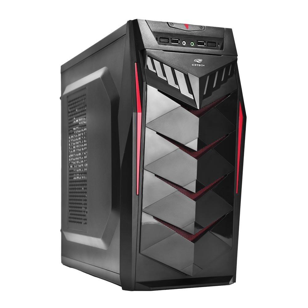Gabinete C3Tech Game-Mt-G70-Bk  Preto Sem Fonte