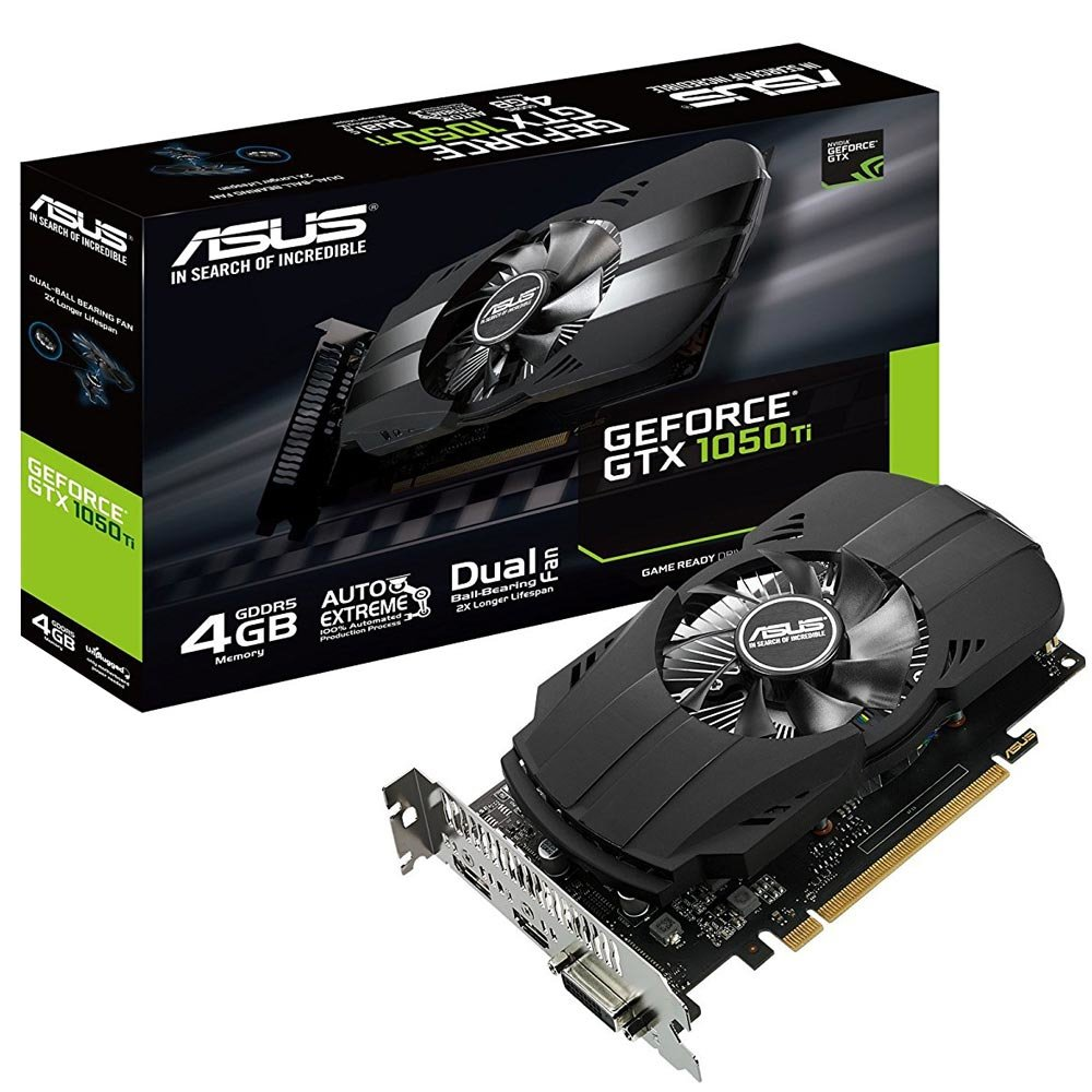 Placa De Vídeo Vga Pci-E 4Gb Asus Geforce Gtx1050-Ti 128Bit Ddr5