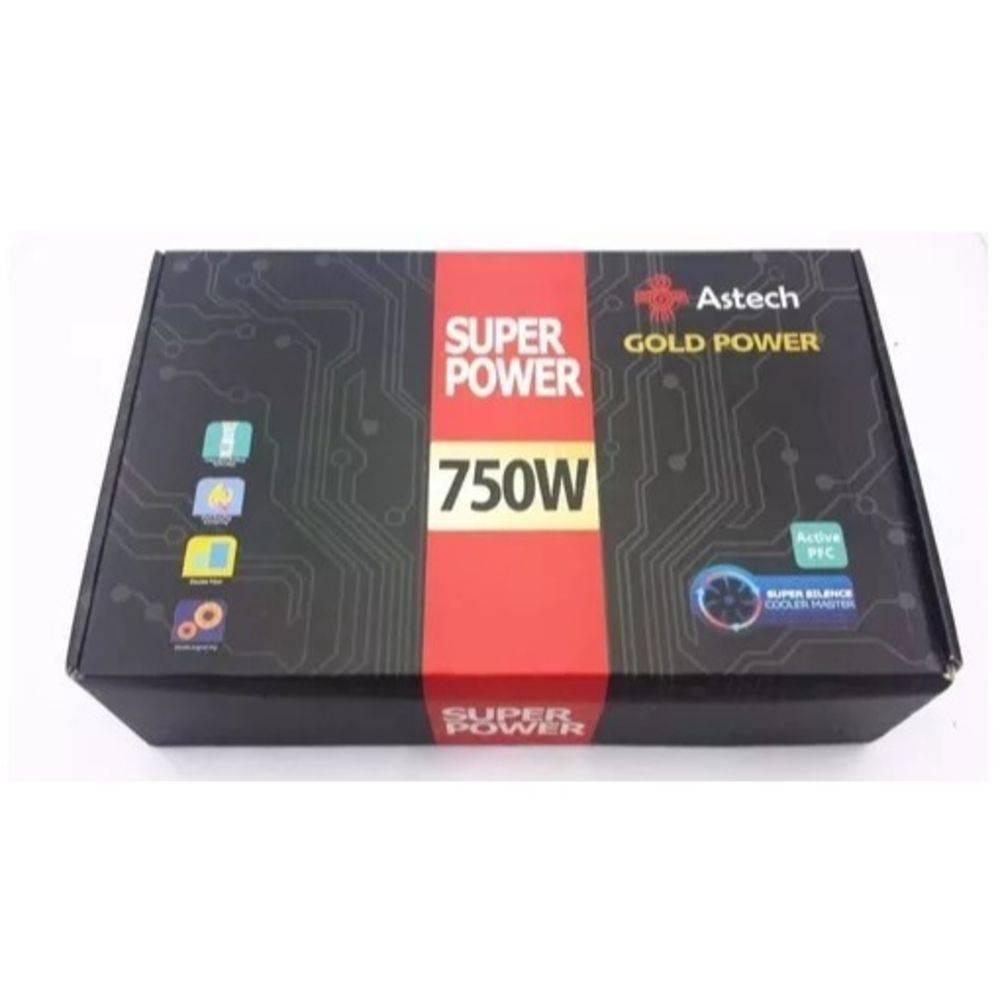 Fonte 750W Real  Astech Gold Power Astech750W1608