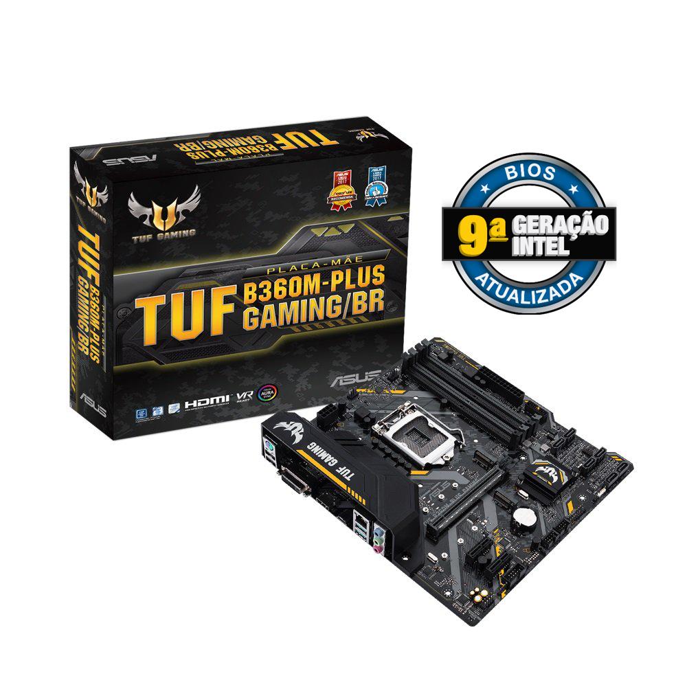Placa Mae 1151 Asus B360 Plus-Tuf Gaming, Br-Ddr-4