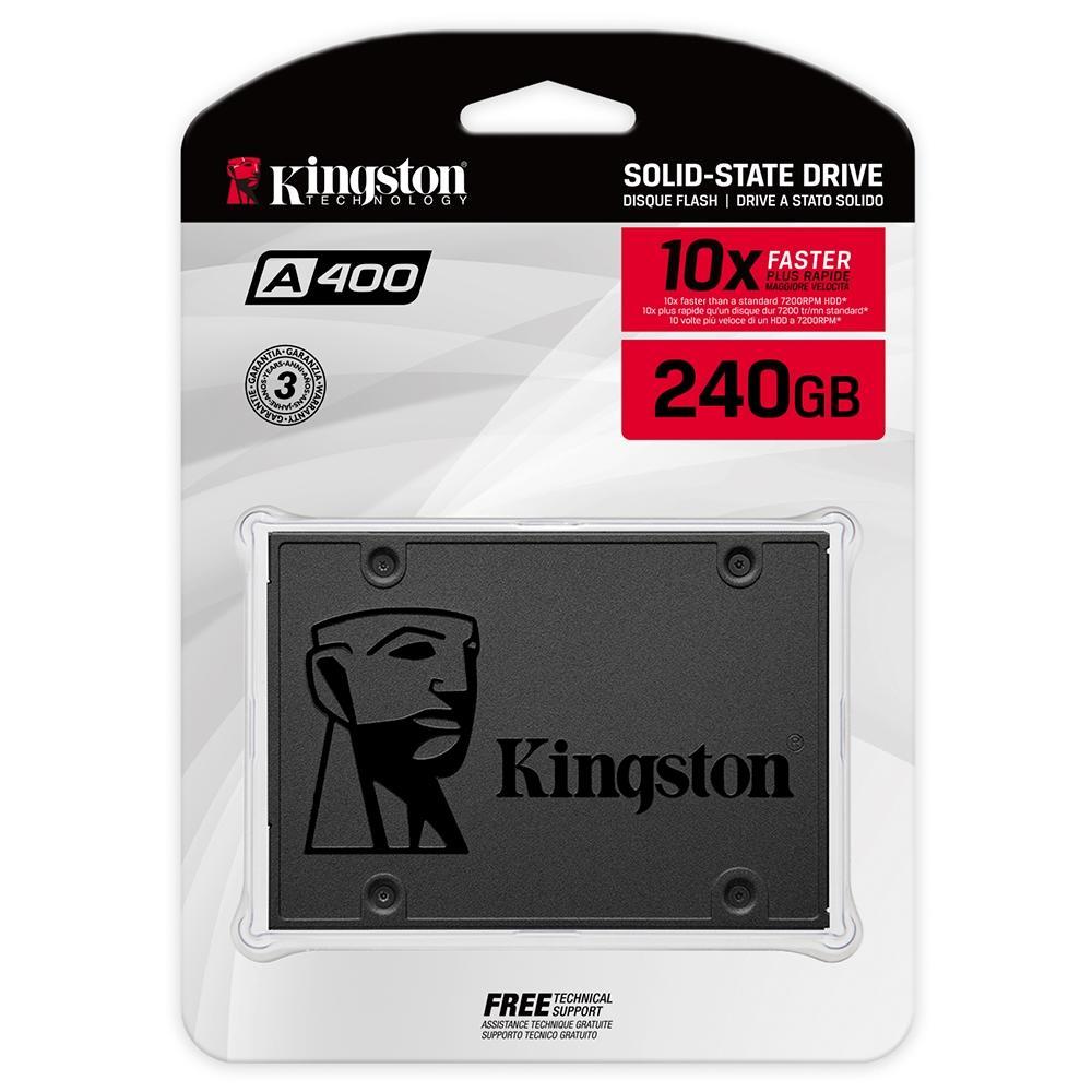 Ssd Kingston 240 Gb A400 Sata 3 (Sa400S37, 240G)