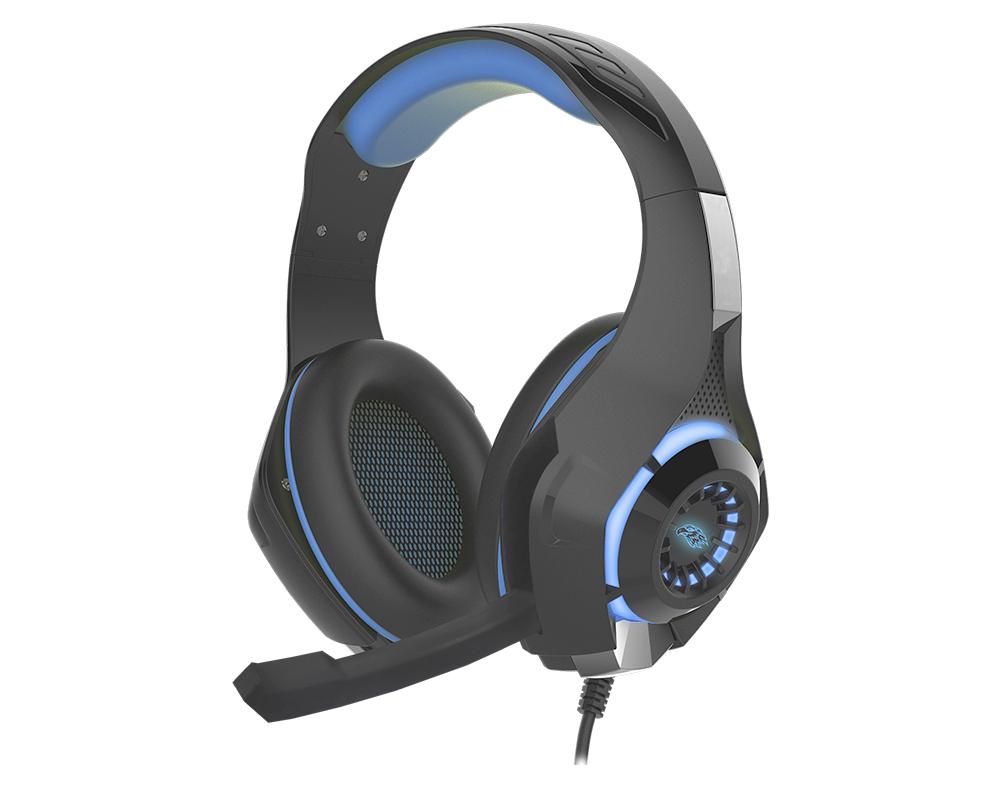 Headset Gamer-Stereo Led Azul Ar-S406 K-Mex
