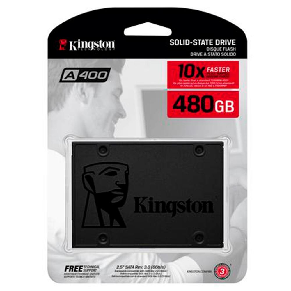 Ssd Kingston 480 Gb A400 Sata 3 (Sa400S37, 480G)