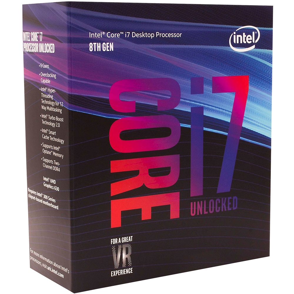 Proc Intel 1151 Core I7-8700.k 3.7Ghz  Box