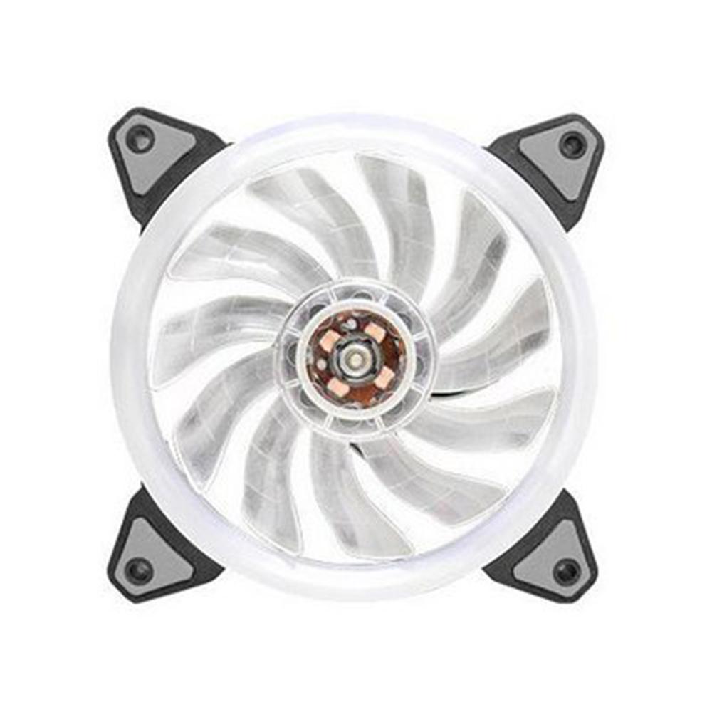 Cooler P, Gab, Gamer12 Cm K-Mex Led Branco -Af-G1225