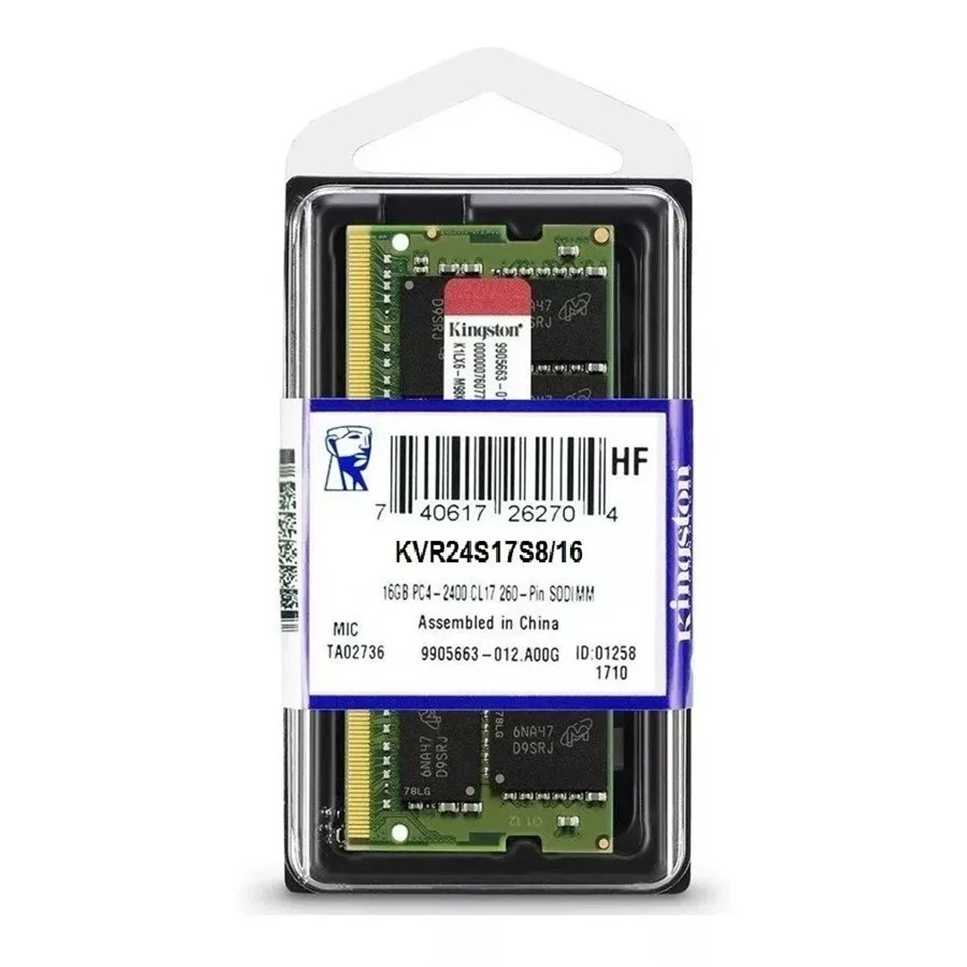 Memoria Ddr4 2400 16Gb P, Notebook Kingston