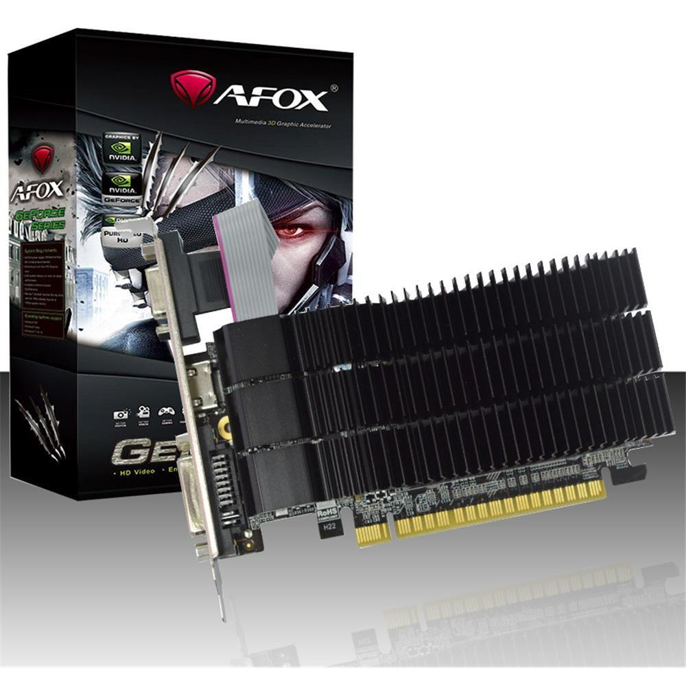 Placa De Video Geforce Gt210 - 1Gb - Ddr3 -  64 Bits - Low Profile - Afox
