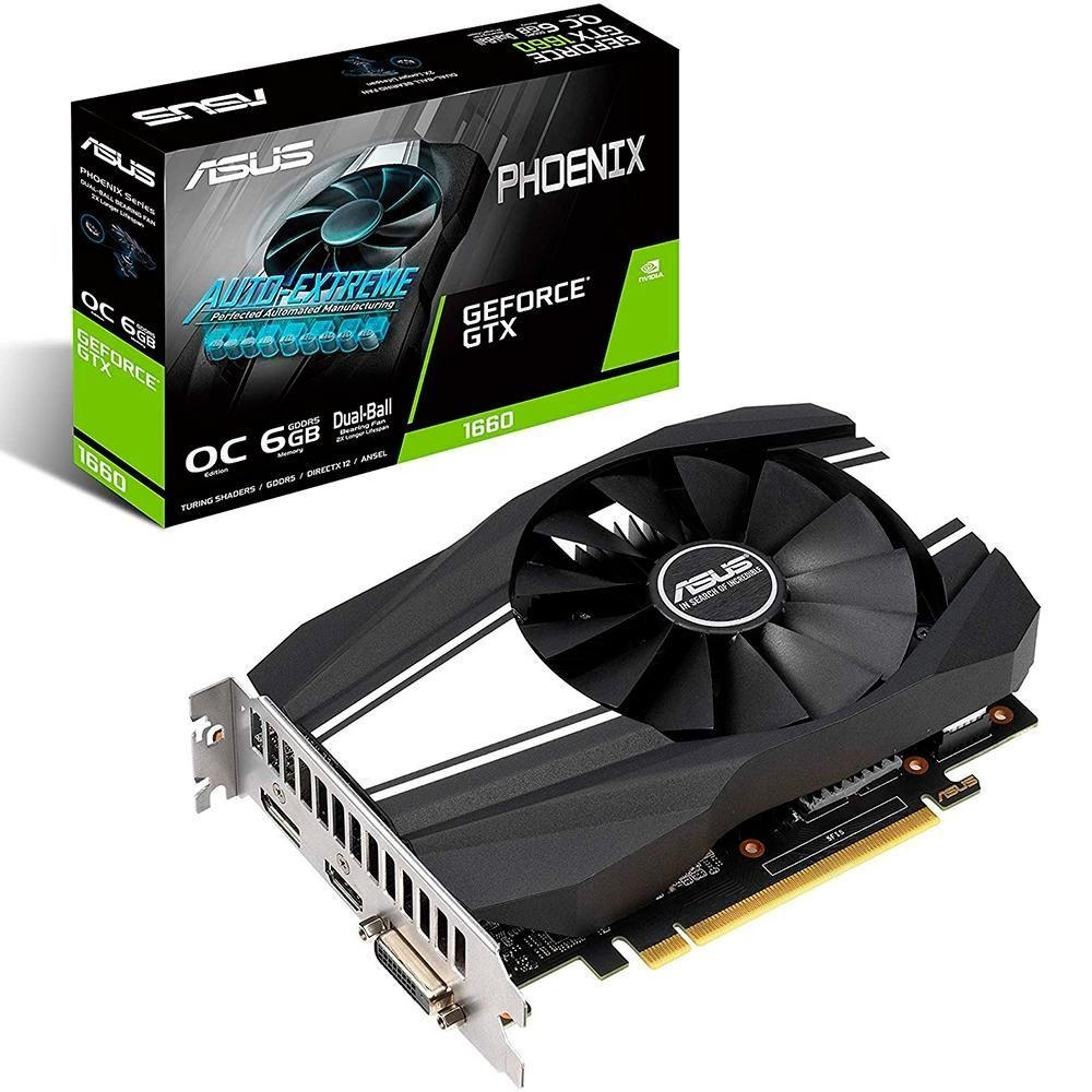 Vga Pci-E 6Gb Asus Geforce Ph Gtx1660 192Bit Gddr5
