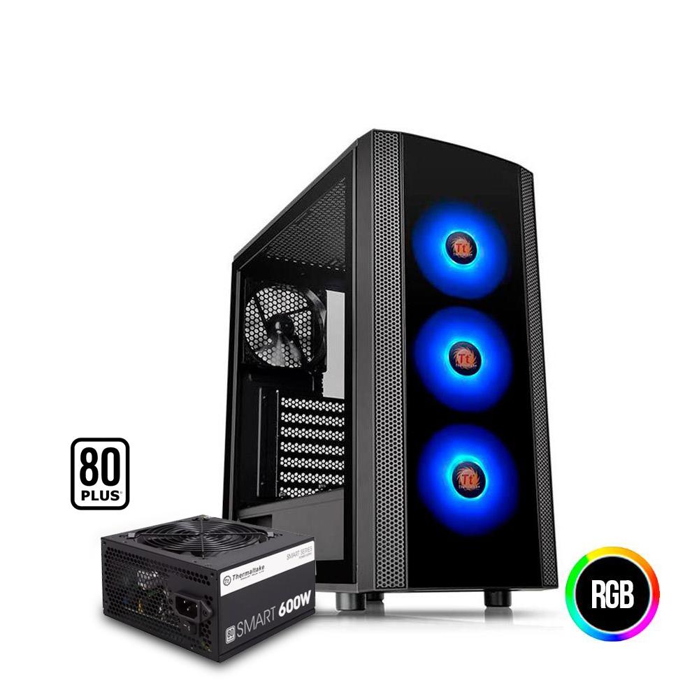 Gabinete Thermaltake Gamer-J25 Tg A-Rgb Preto