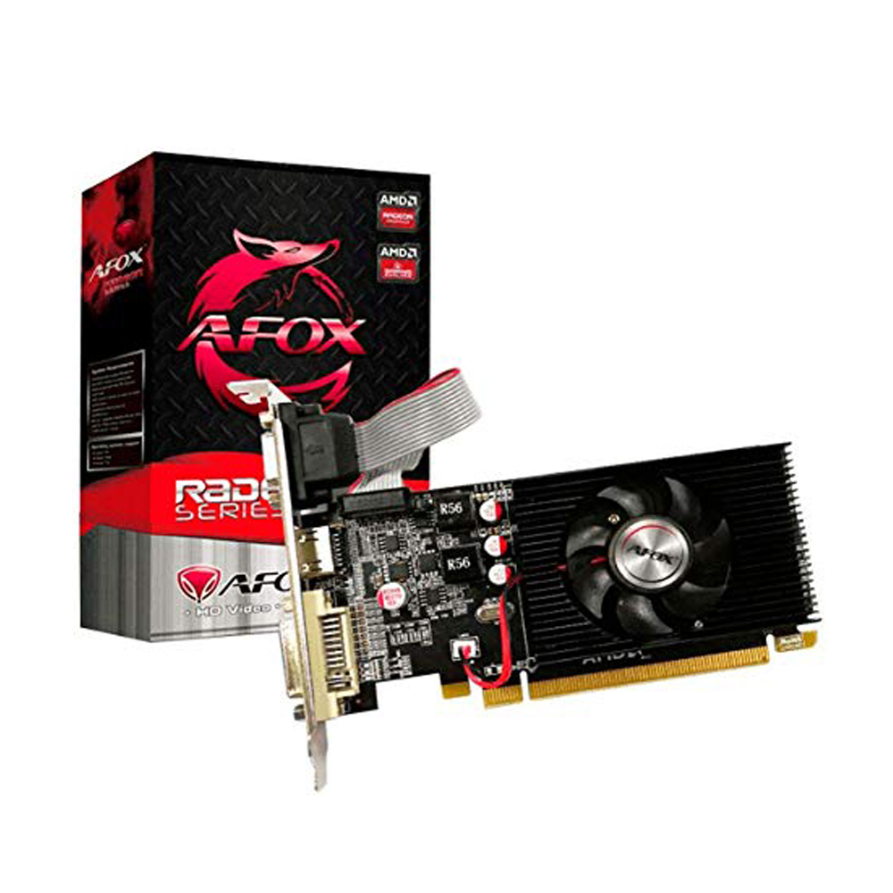 Placa De Video Radeon R 5-230 2Gb Ddr3  64Bits Low Profile  Afox