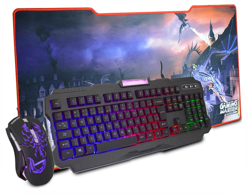 Kit Gamer Tec, Mouse, Mouse Pad C, Fio Km-7728 K-Mex-