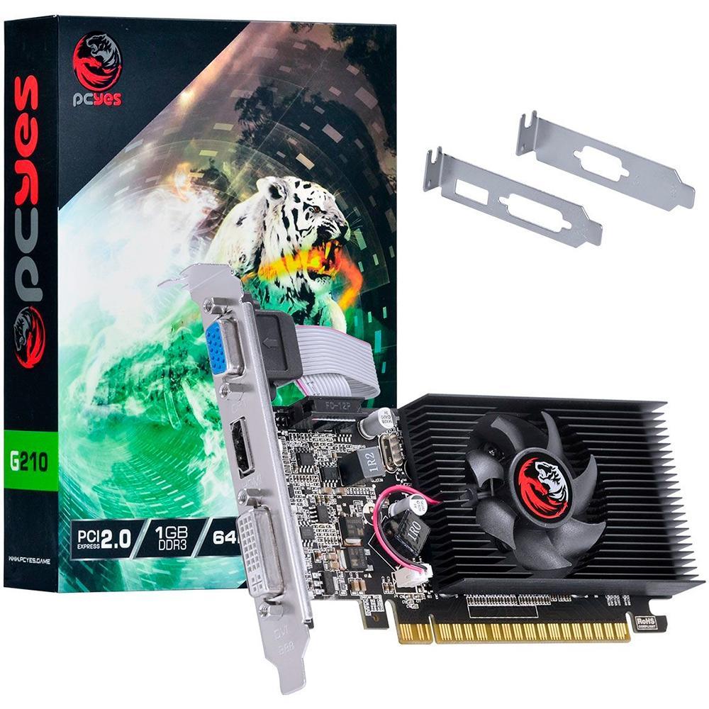Placa De Video Vga Pci-E 1Gb Pcyes Geforce-G210 64Bits Ddr3