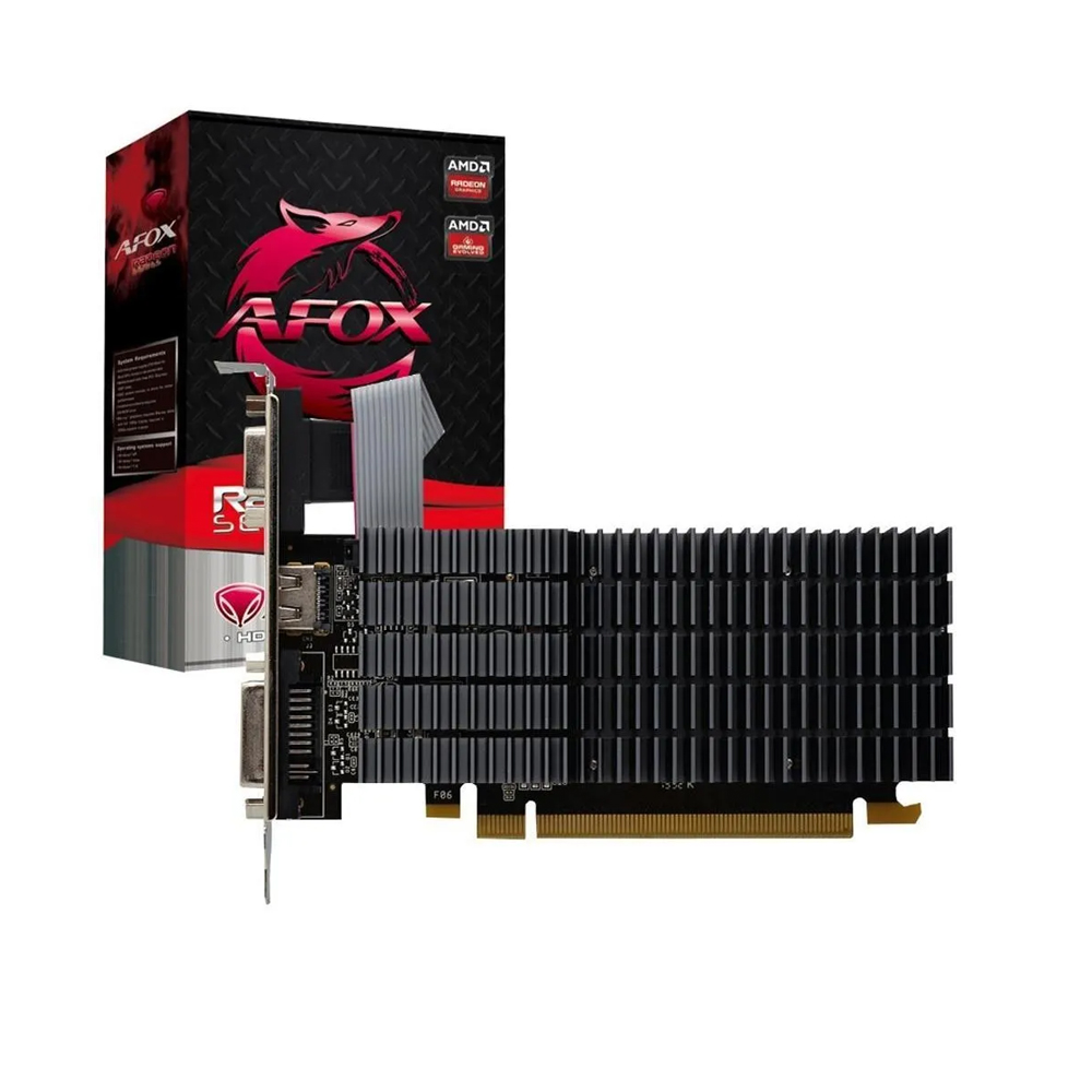 Placa De Video Pci-E 1Gb Afox Radeon R5-220 64Bits Ddr3