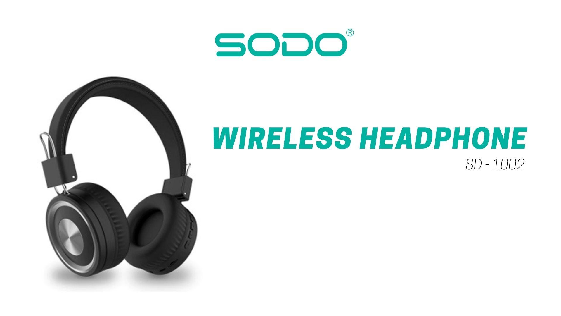 Fone De Ouvido Headset Bluetooth-5.0 1002-Sodo