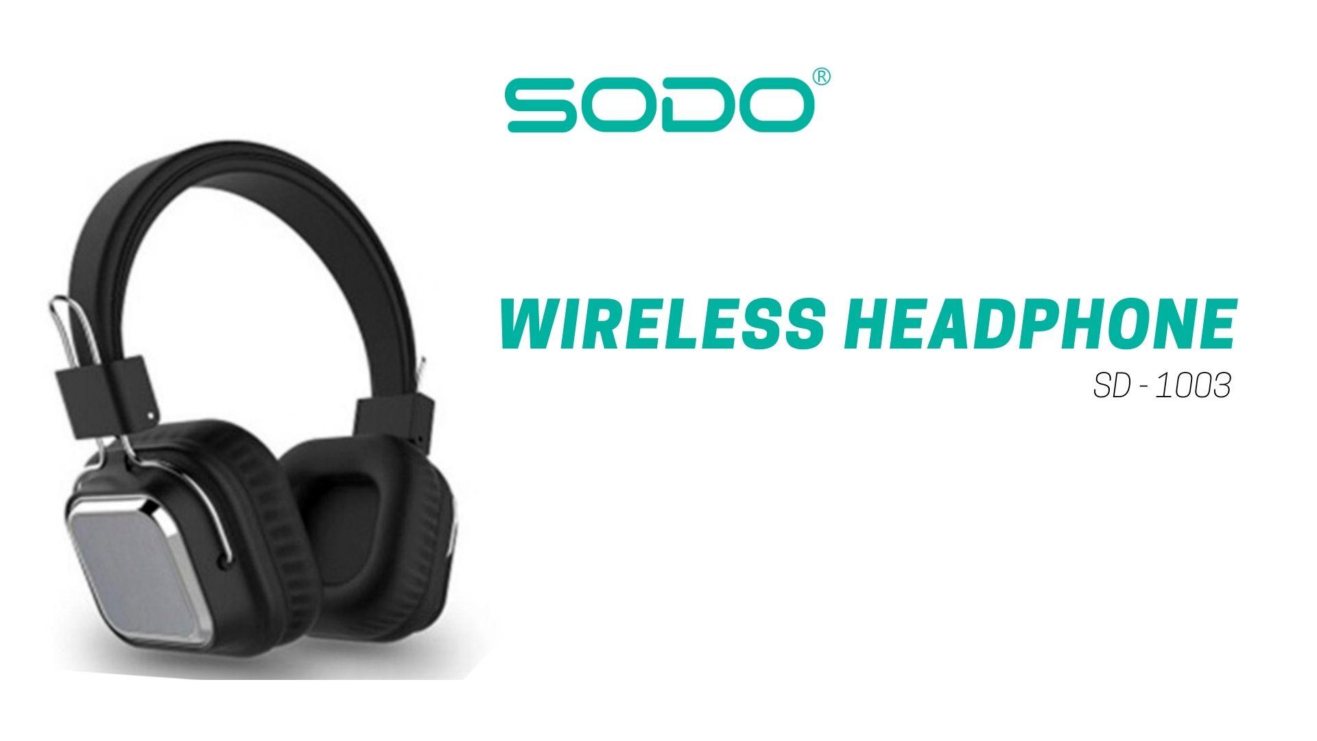 Fone De Ouvido Headset Bluetooth-5.0 1003-Sodo