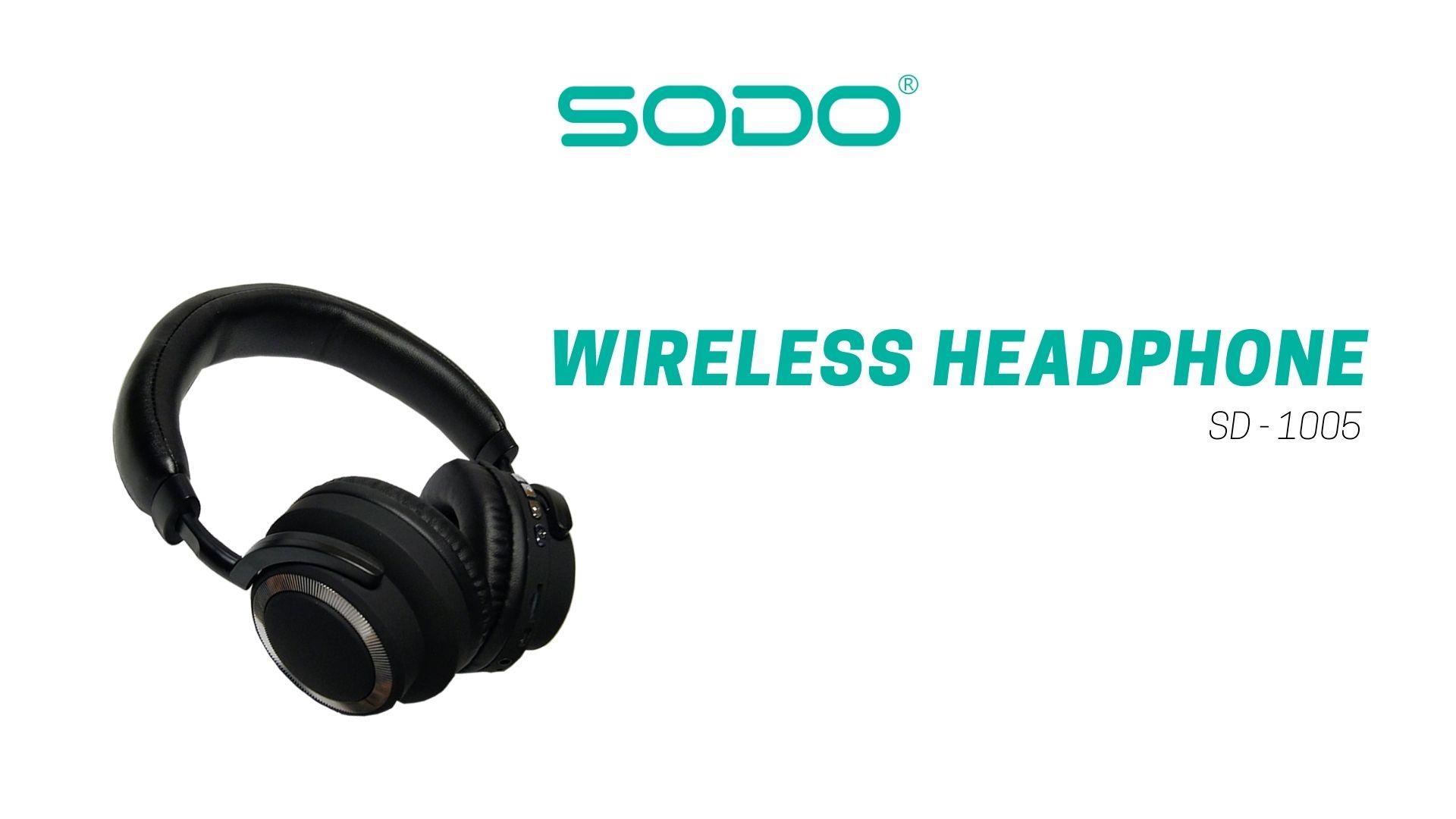 Fone De Ouvido Headset Bluetooth-5.0 1005-Sodo