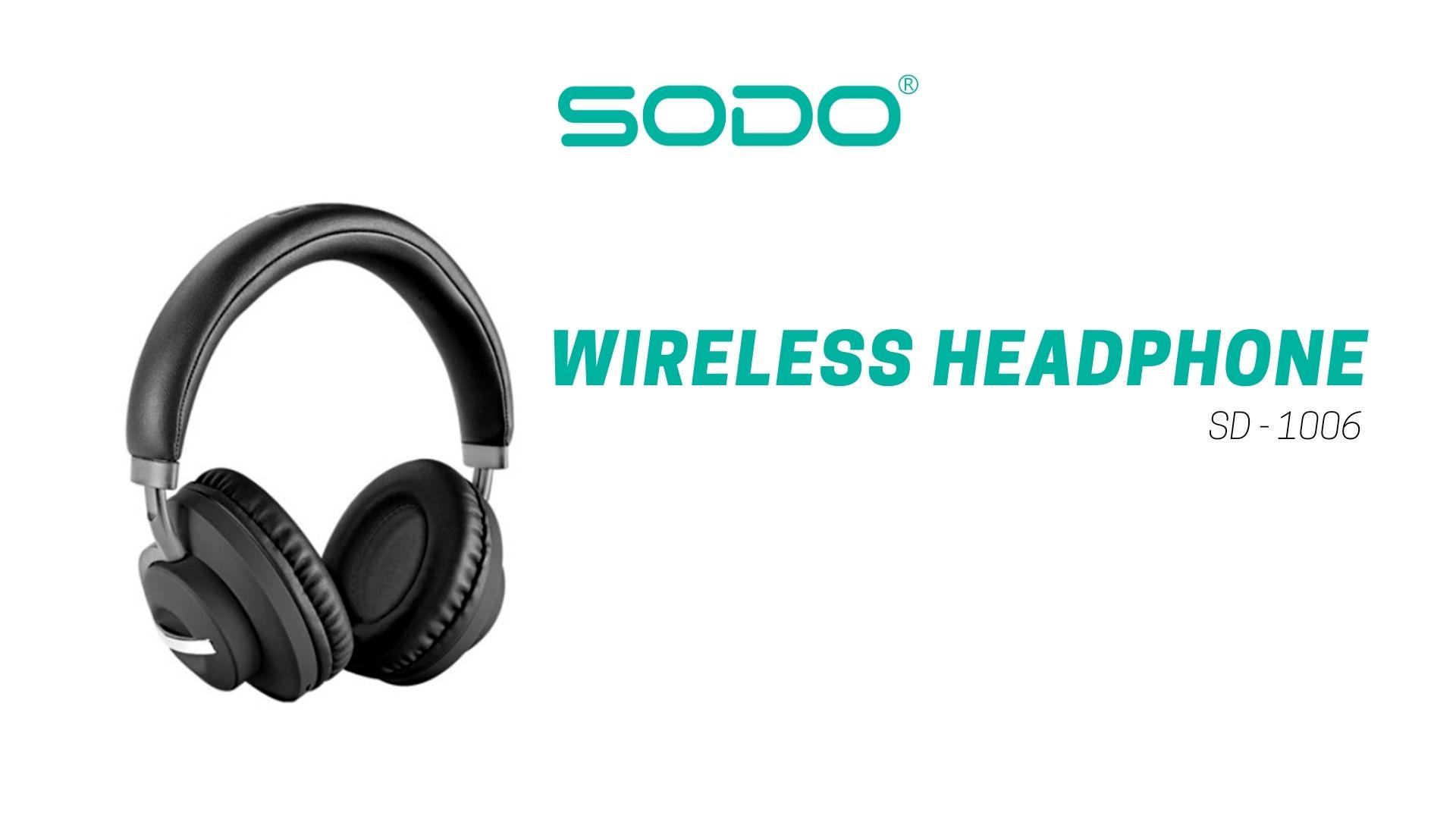 Fone De Ouvido Headset Bluetooth-5.0 1006-Sodo